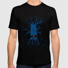 All-seeing tree 2 night Mens Fitted Tee Black SMALL