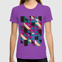 blocked Womens Fitted Tee Ultraviolet SMALL