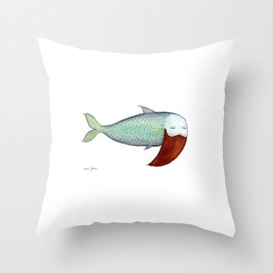 fish with beard Throw Pillow