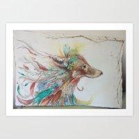 Gypsy Wolf Art Print