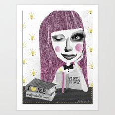 I think therefore I am... single Art Print