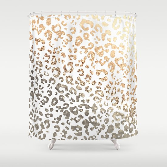 GOLD LEO Shower Curtain By Monika Strigel Society6