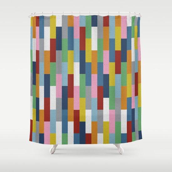 Bricks Rotate Shower Curtain