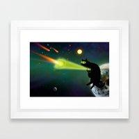 Cat Lanturn Framed Art Print