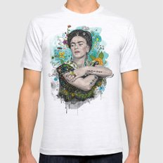 Frida Kahlo Mens Fitted Tee Ash Grey SMALL