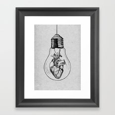 Herzverstand  Framed Art Print