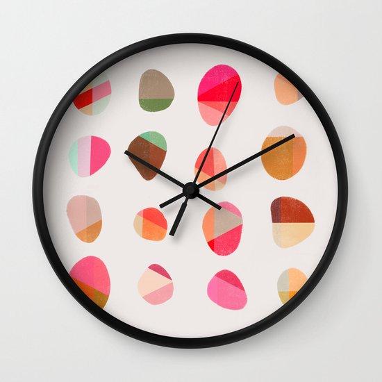 Painted Pebbles 5 Wall Clock