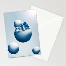 Ice Mountain Planet Stationery Cards