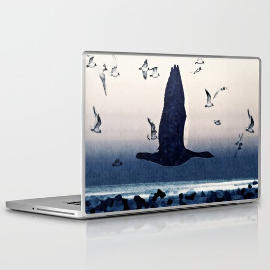 The goose and the seagulls Laptop & iPad Skin