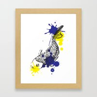 Out Fish Framed Art Print