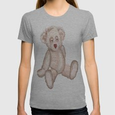 Bear Womens Fitted Tee Athletic Grey SMALL