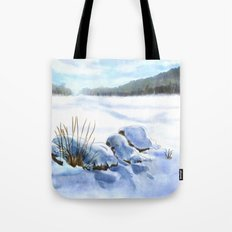 A Winter Study In Blues Tote Bag