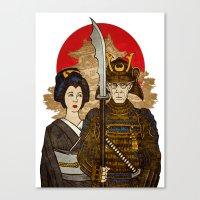 Samurai's Daughter Canvas Print