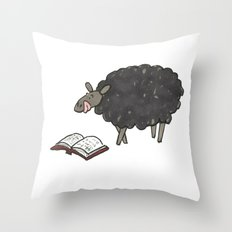 Books are Tasty Sheep Throw Pillow