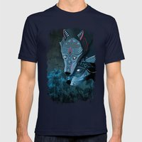 I Am Neither Walker Nor … Mens Fitted Tee Navy SMALL