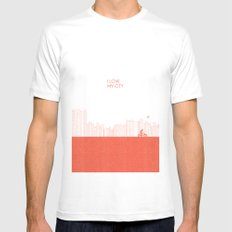 I love my City Mens Fitted Tee White SMALL