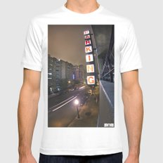 Up A Level Mens Fitted Tee White SMALL