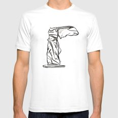 winged victory SMALL White Mens Fitted Tee