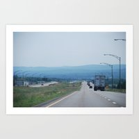 Down the Road Art Print