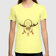 Deadly Desert Womens Fitted Tee Lemon SMALL
