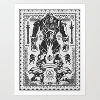 Legend of Zelda Ganondorf the Wicked Art Print