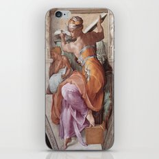 The Libyan Sybil Sistine Chapel Ceiling by Michelangelo iPhone & iPod Skin