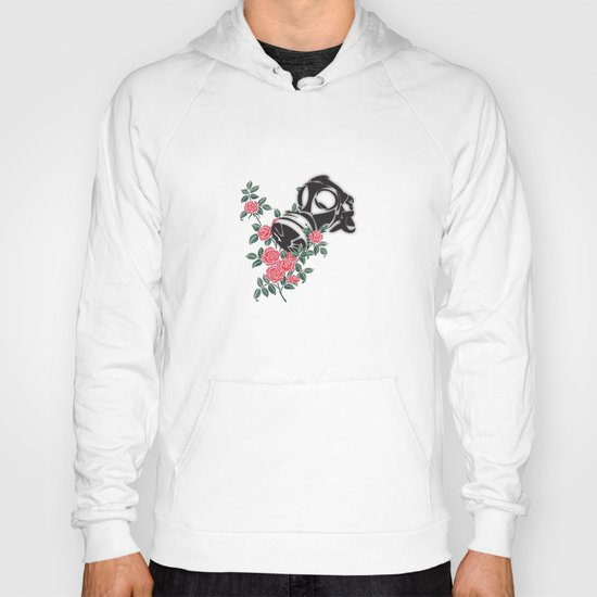 smell the roses - gas mask Hoody