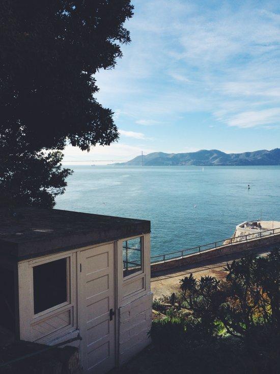 Alcatraz view of San Francisco. Art Print