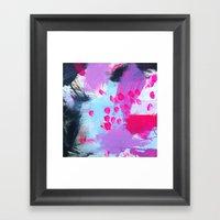 Water Sprinkle: Deep Ana… Framed Art Print