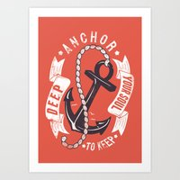 Anchor your soul Art Print