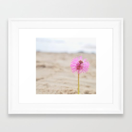 by the beach Framed Art Print