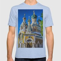 Russian Orthodox Cathedr… Mens Fitted Tee Athletic Blue SMALL