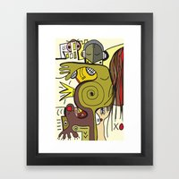 """""""what sally smith saw after a sip of tea"""" 2 Framed Art Print"""