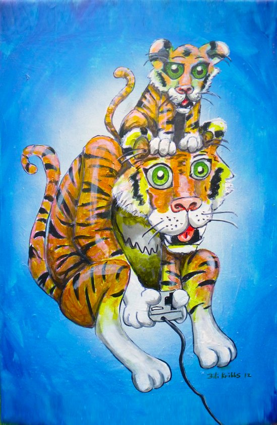 Harbaugh's Tiger & Cub Art Print