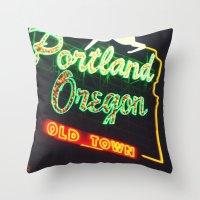 Portland! Throw Pillow