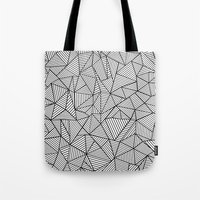Abstraction Lines #2 Bla… Tote Bag