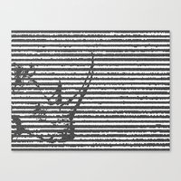 terribilis lineas. Canvas Print