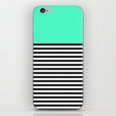 STRIPE COLORBLOCK {MINT/TEAL} iPhone & iPod Skin
