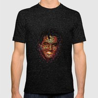 Elvis  Mens Fitted Tee Tri-Black SMALL
