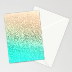 GOLD AQUA Stationery Cards