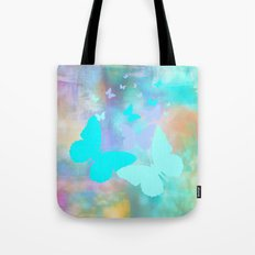 Painterly Butterfly Abstract Tote Bag