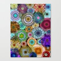Flowery Meadow 3 Canvas Print