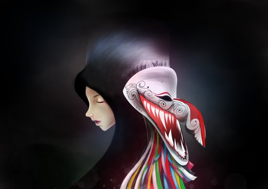women_ผีตาโขน Art Print