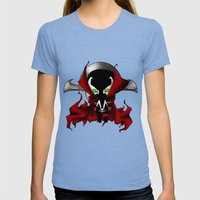Chibi Spawn Womens Fitted Tee Tri-Blue SMALL