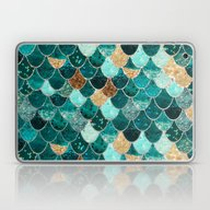 Laptop & iPad Skin featuring REALLY MERMAID by Monika Strigel