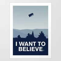 My I want to believe minimal poster-tardis Art Print