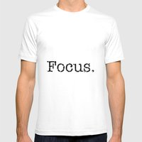 Focus Mens Fitted Tee White SMALL