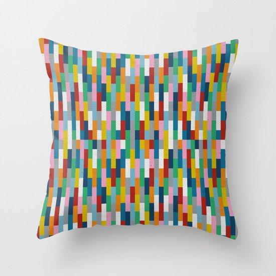 Bricks Rotate #2 Throw Pillow