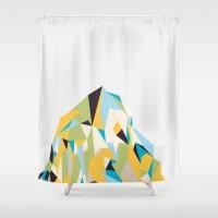 Mount Pios Left Shower Curtain