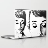 audrey hepburn Laptop & iPad Skins featuring Audrey Hepburn by Geryes